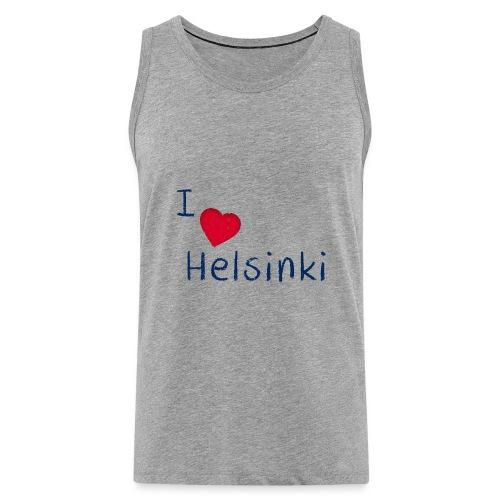 I Love Helsinki - Miesten premium hihaton paita