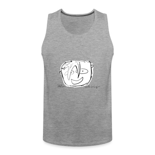 The Face Zoomed | Peter Eric Lang - Men's Premium Tank Top
