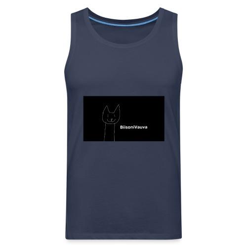 biisonivauva - Miesten premium hihaton paita