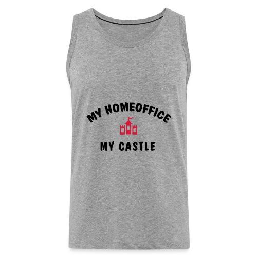 MY HOMEOFFICE MY CASTLE - Männer Premium Tank Top