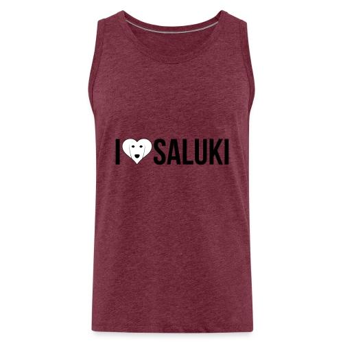 I Love Saluki - Canotta premium da uomo