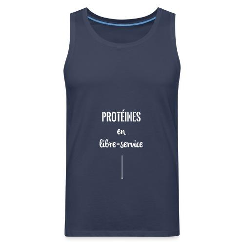 proteines libre service - Débardeur Premium Homme