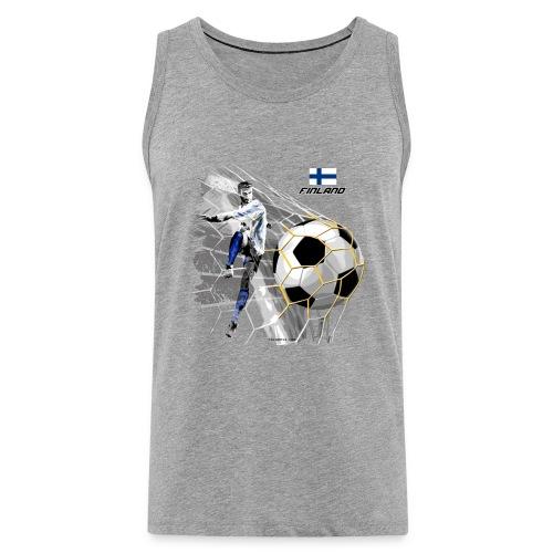 GP22F-05 FINLAND FOOTBALL PRODUCTS - Tuotteet - Miesten premium hihaton paita