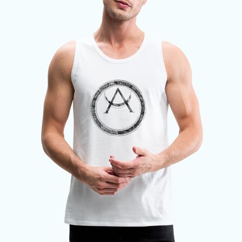 Mystic motif with sun and circle geometric - Men's Premium Tank Top