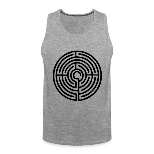 Labyrinth Schutzsymbol Lebensweg Magie Mystik - Männer Premium Tank Top