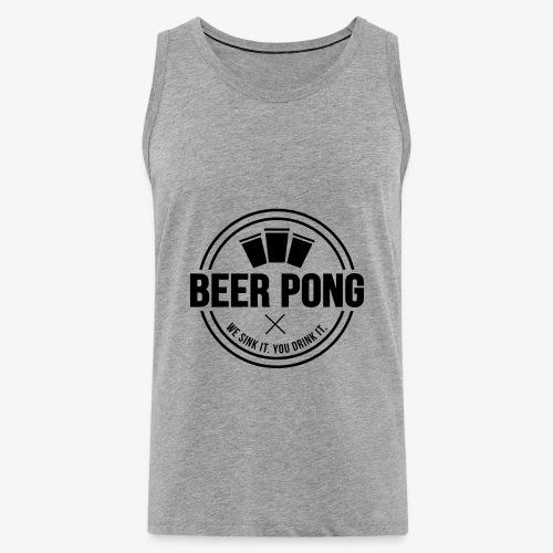 Beer Pong Logo V - Männer Premium Tank Top