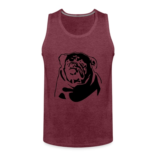 English Bulldog - negative - Miesten premium hihaton paita