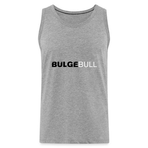 bulgebull logo blanco - Tank top premium hombre
