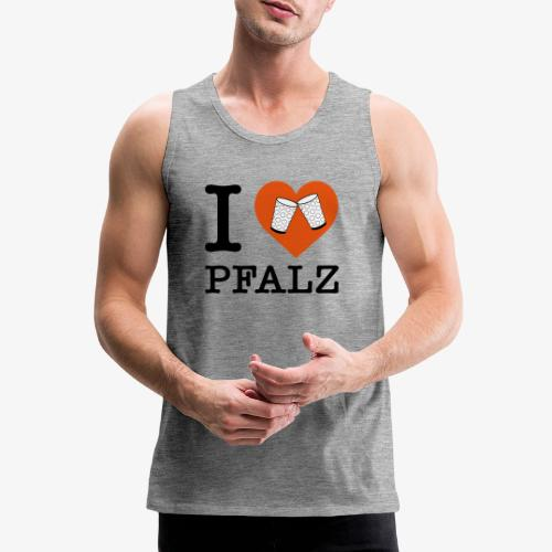 I love Pfalz – Dubbeglas - Männer Premium Tank Top