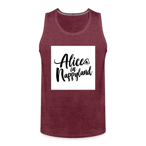 Alice in Nappyland Typography Black 1080 1 - Men's Premium Tank Top