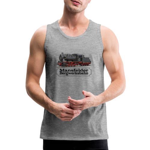 mansfelder bergwerksbahn dampflok 1 - Männer Premium Tank Top