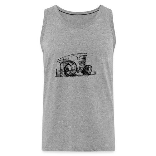 Futuristic design tractor - Men's Premium Tank Top