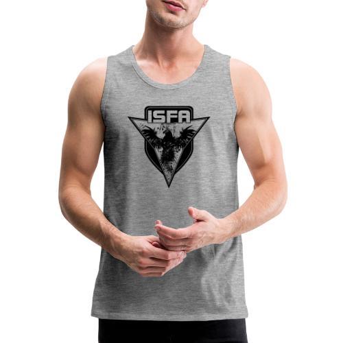 isfa logo 1c schwarz - Männer Premium Tank Top