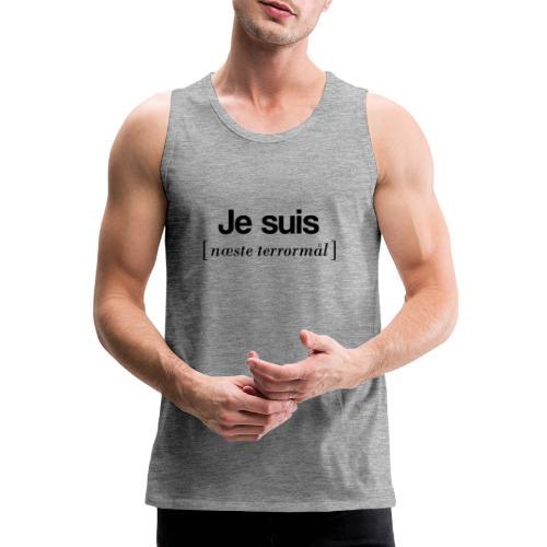 Je suis (sort skrift) - Herre Premium tanktop