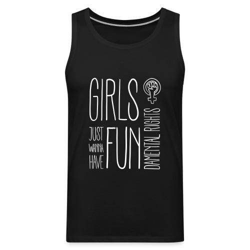Girls just wanna have fundamental rights - Männer Premium Tank Top