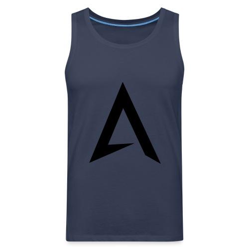 alpharock A logo - Men's Premium Tank Top