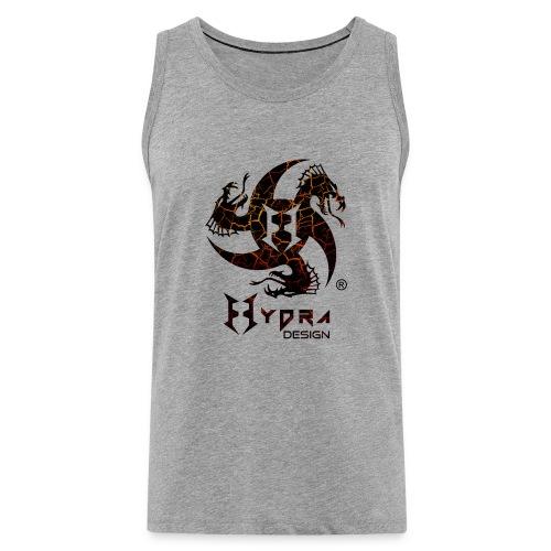 Hydra Design - logo Cracked lava - Canotta premium da uomo