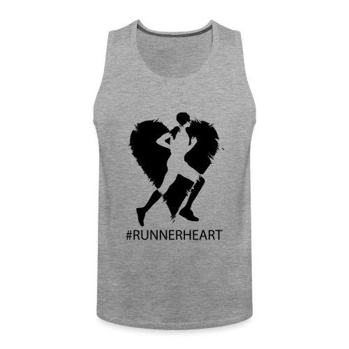 #Runnerheart man - Männer Premium Tank Top