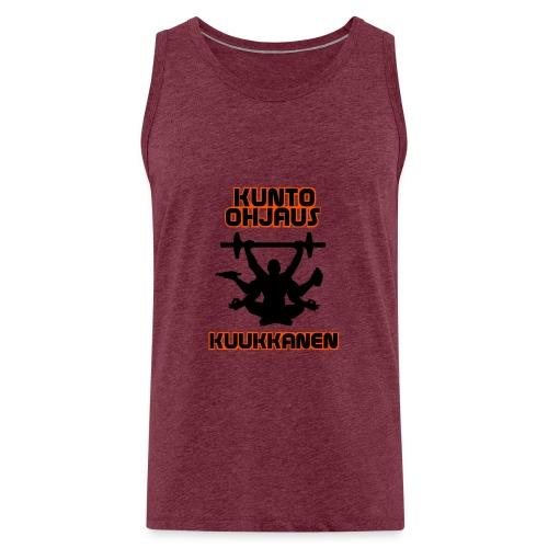 Kunto-ohjaus Kuukkanen Logo - Miesten premium hihaton paita