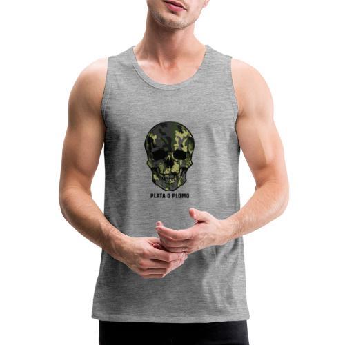 Colombian skull - plata o plomo - Männer Premium Tank Top