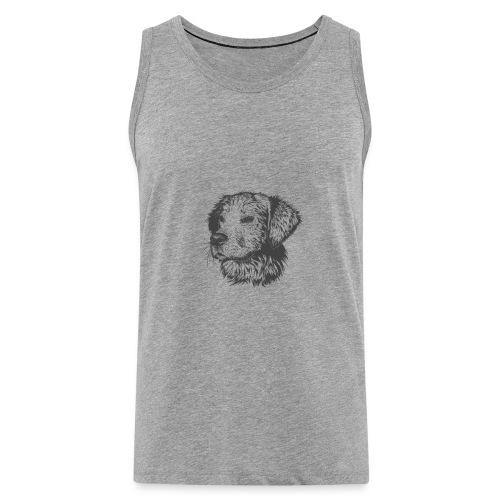 koiran kuva - Miesten premium hihaton paita