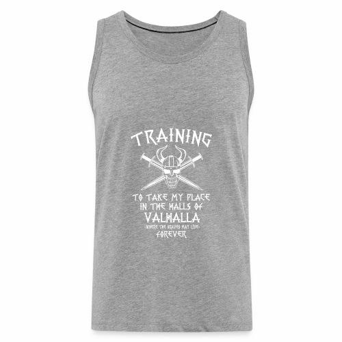 training for Valhalla - Tank top premium hombre