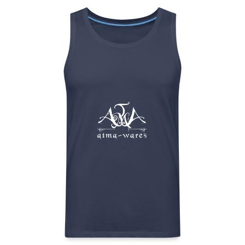 atma wares logo white - Mannen Premium tank top