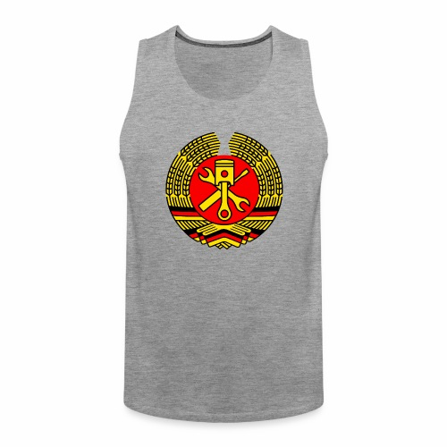 DDR Tuning Coat of Arms 3c (+ Your Text) - Men's Premium Tank Top