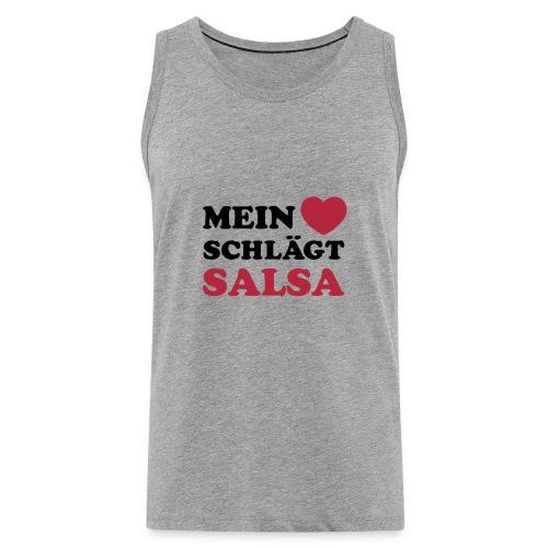 MEIN HERZ SCHLÄGT SALSA - Männer Premium Tank Top