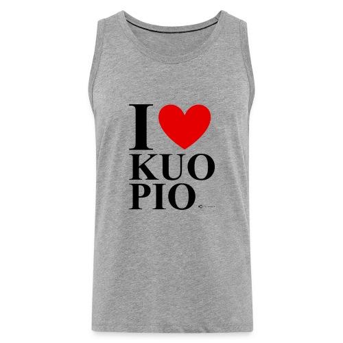 I LOVE KUOPIO ORIGINAL (musta) - Miesten premium hihaton paita