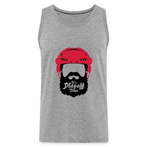 Eishockey Playoff Bart - Hockey Beard Helmet 1 - Männer Premium Tank Top