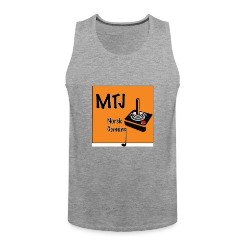 Mtj Logo - Premium singlet for menn