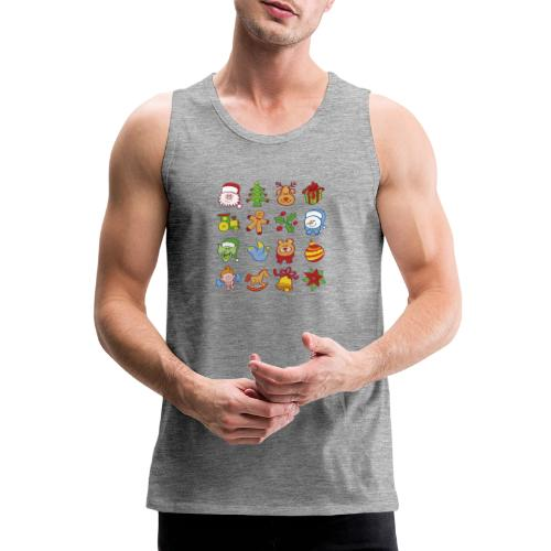 Traditional Christmas characters and symbols - Men's Premium Tank Top