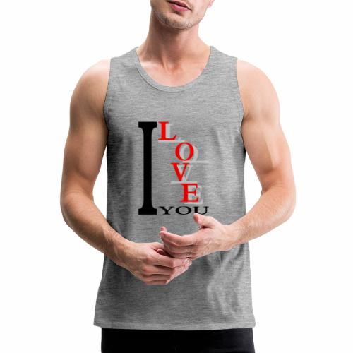 I love you - Men's Premium Tank Top