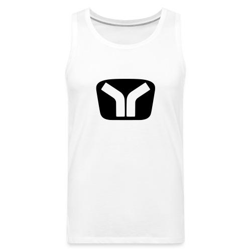 Yugo Logo Black-White Design - Men's Premium Tank Top