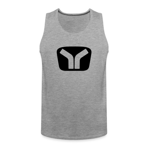 Yugo Logo Black-Transparent Design - Men's Premium Tank Top