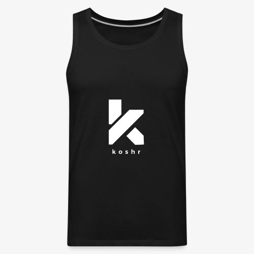 Koshr Official Logo - - Men's Premium Tank Top