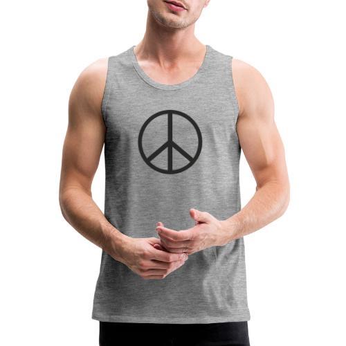 Símbolo de la paz negro - Tank top premium hombre