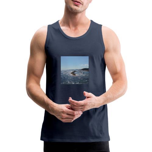 Mer avec roches - Débardeur Premium Homme