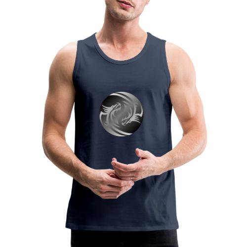 Yin Yang Dragon - Men's Premium Tank Top