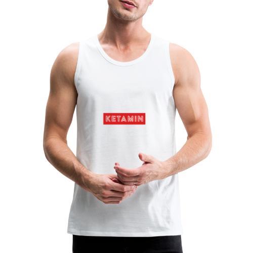 KETAMIN Rock Star - Weiß/Rot - Modern - Men's Premium Tank Top