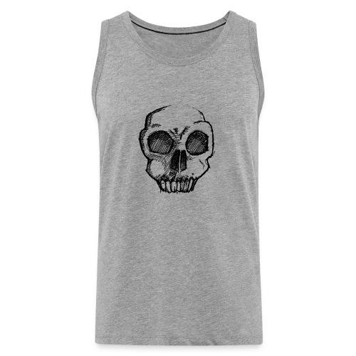 Skull sketch - Men's Premium Tank Top