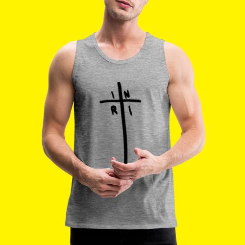Cross - INRI (Jesus of Nazareth King of Jews) - Men's Premium Tank Top
