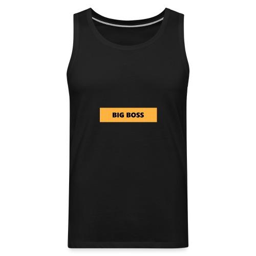 BIG BOSS - Miesten premium hihaton paita