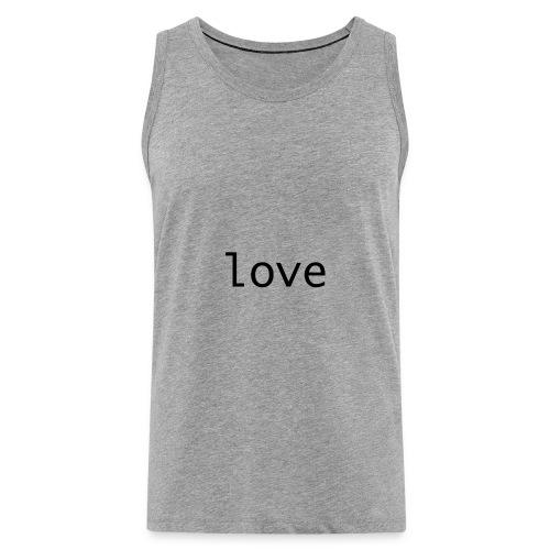 love - Premiumtanktopp herr