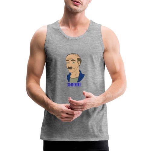 KOODINIMI - Miesten premium hihaton paita