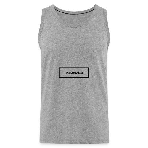 HasloGames White/Black edition! - Mannen Premium tank top