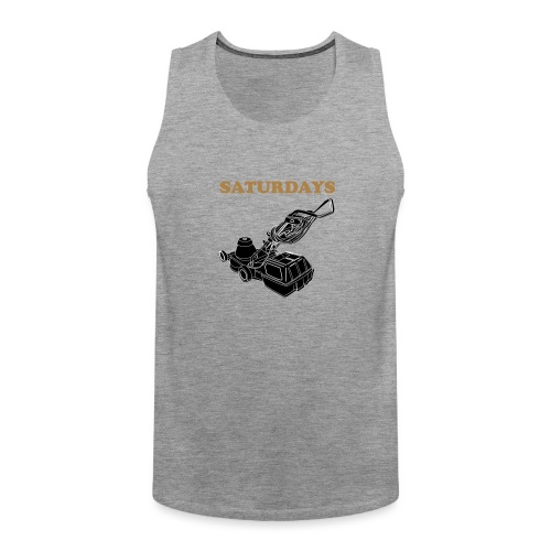 Saturdays Lawnmower - Men's Premium Tank Top