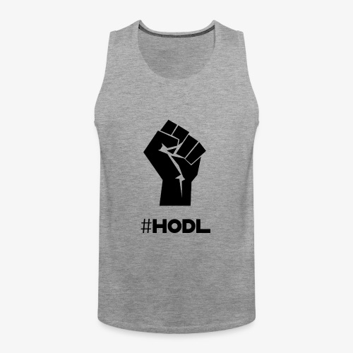 HODL-fist-b - Men's Premium Tank Top