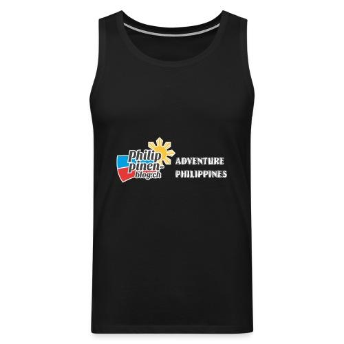 Philippinen-Blog Logo english schwarz/weiss - Männer Premium Tank Top